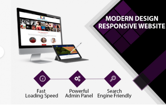 Modern design responsive website